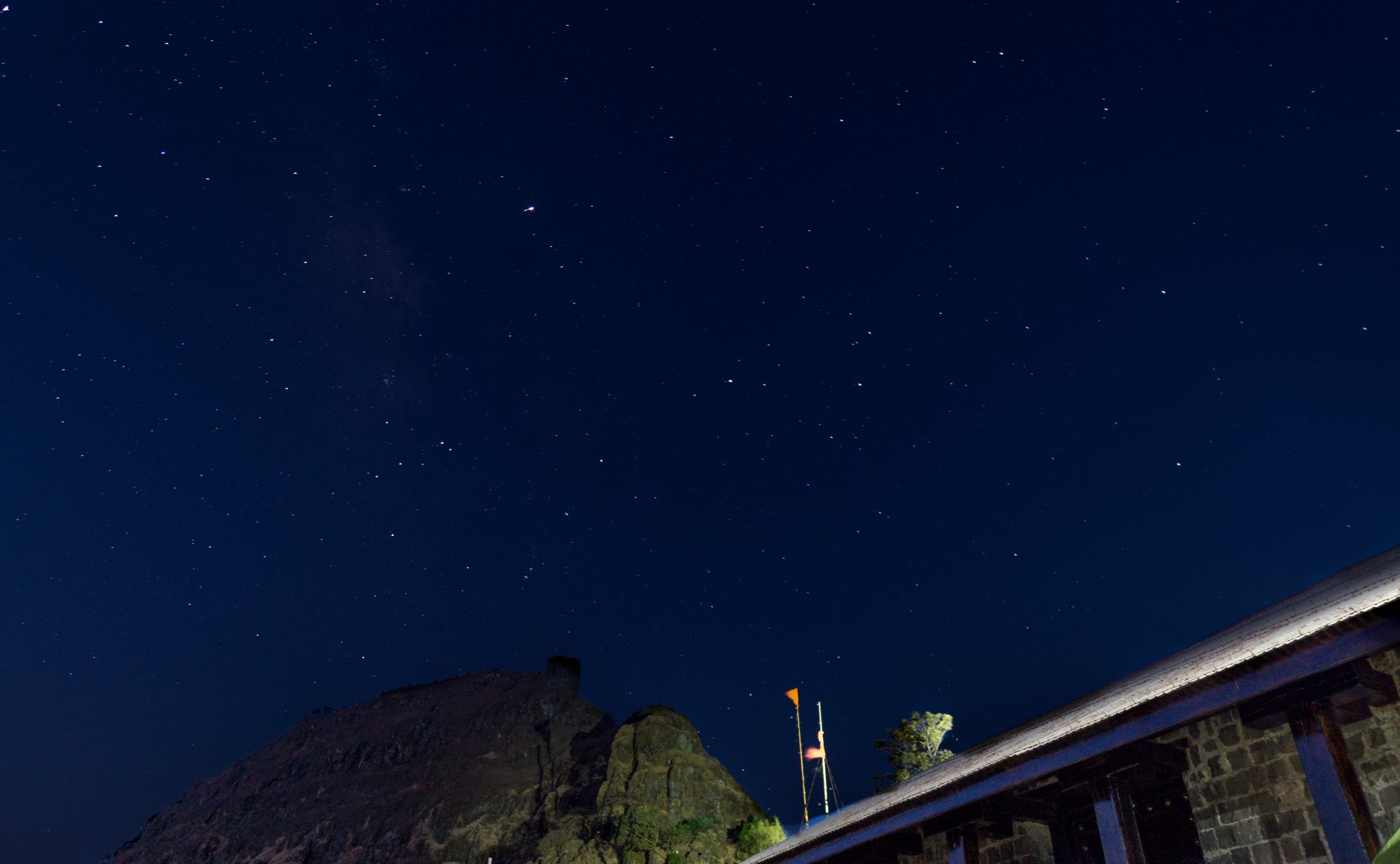 Starry night at the Rajgad fort