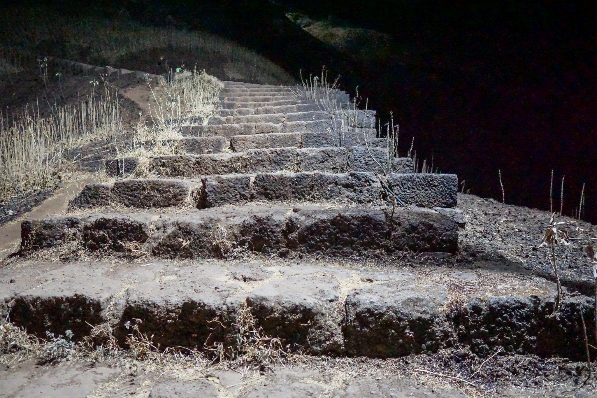 Steps at rajgad