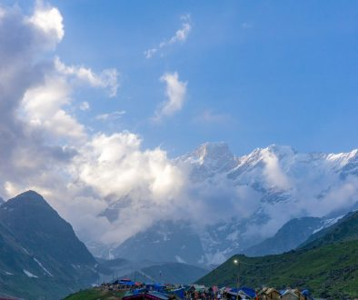 The view from the Kedarnath base camp