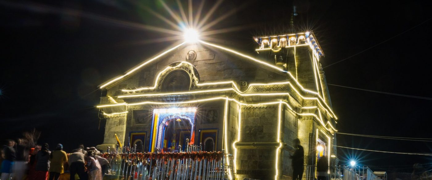 Kedarnath Temple @ night